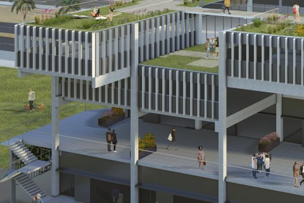 Fachada norte terrazas | Edificio Gonsi Sócrates