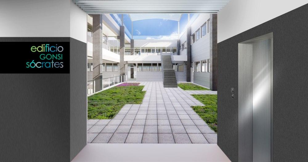 Render terraza Ágora Edificio Gonsi Sócrates